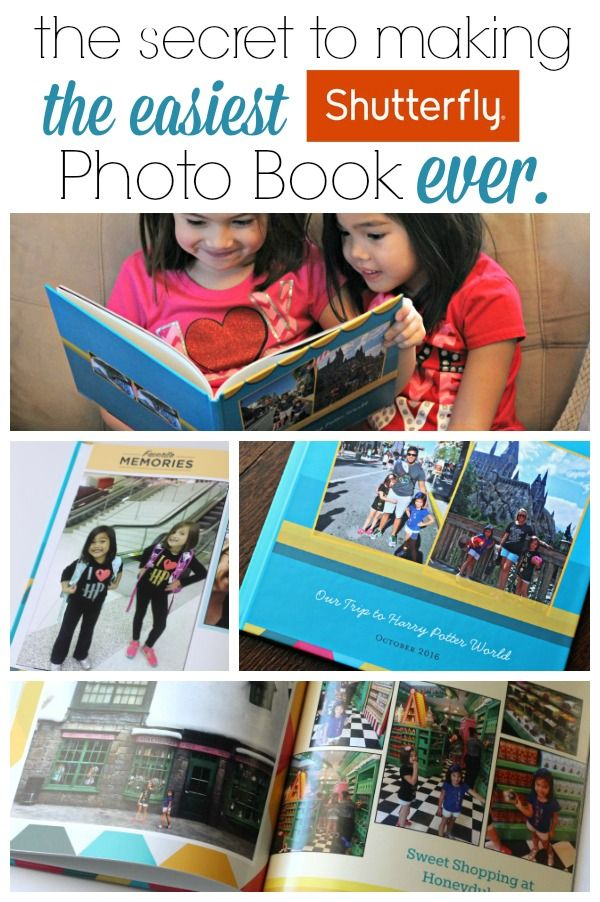Everyone loves them, but sometimes photo books can take HOURS to design. Here's the secret to make a Shutterfly photo book in MINUTES! #ad #Shutterfly