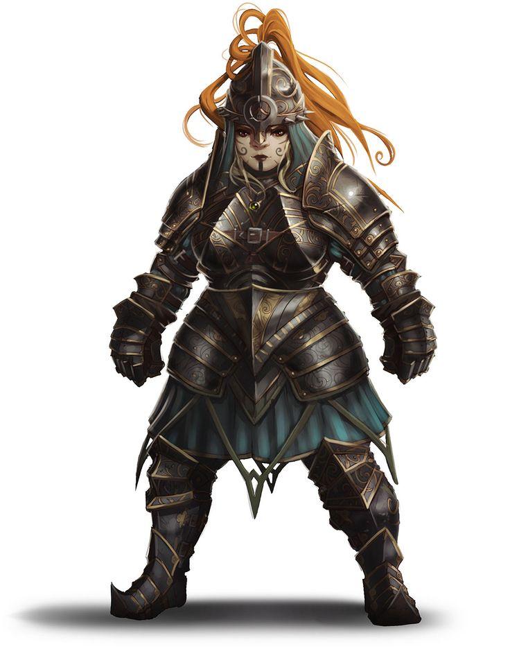 Dwarf Female Metal Armor