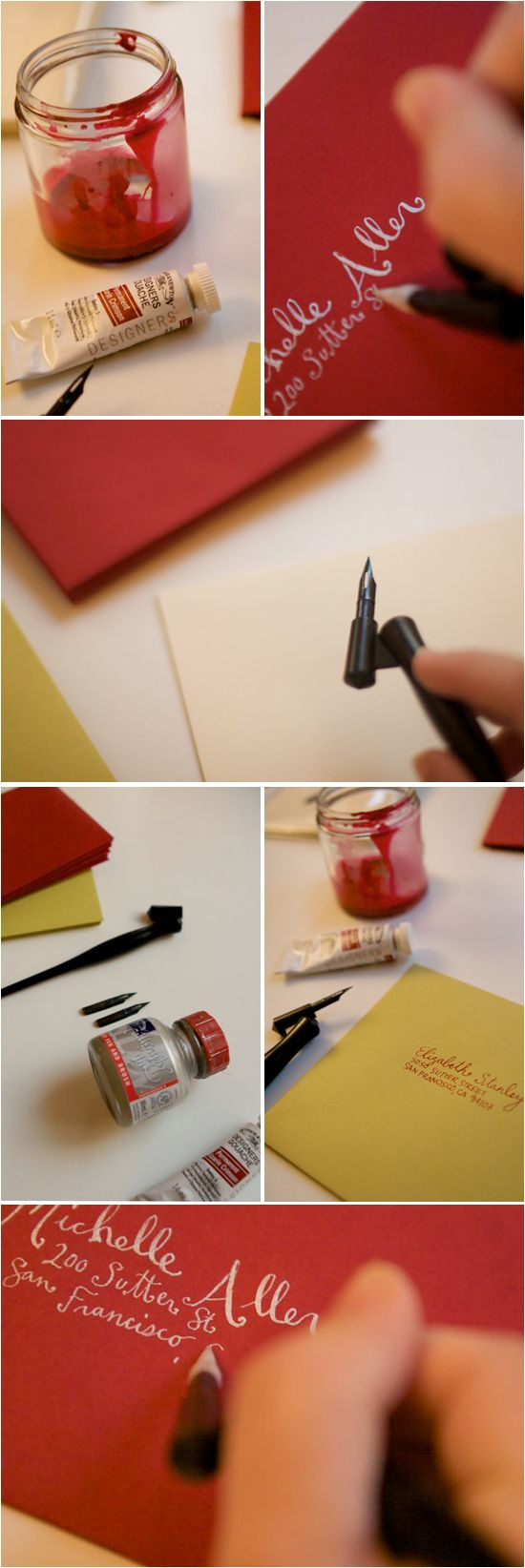 red/white#Repin By:Pinterest++ for iPad#: Calligraphy Envelope, Craft, Beginner Calligraphy, Project Wedding, Calligraphy For Beginners, Caligraphy Pens, Caligraphy For Beginners, Beginners Calligraphy, Calligraphy Pens