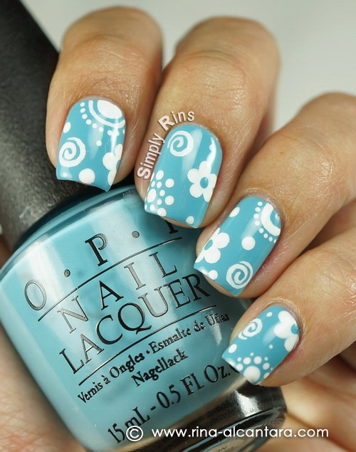 Little Things Nail Art Design On OPI Can't Find My