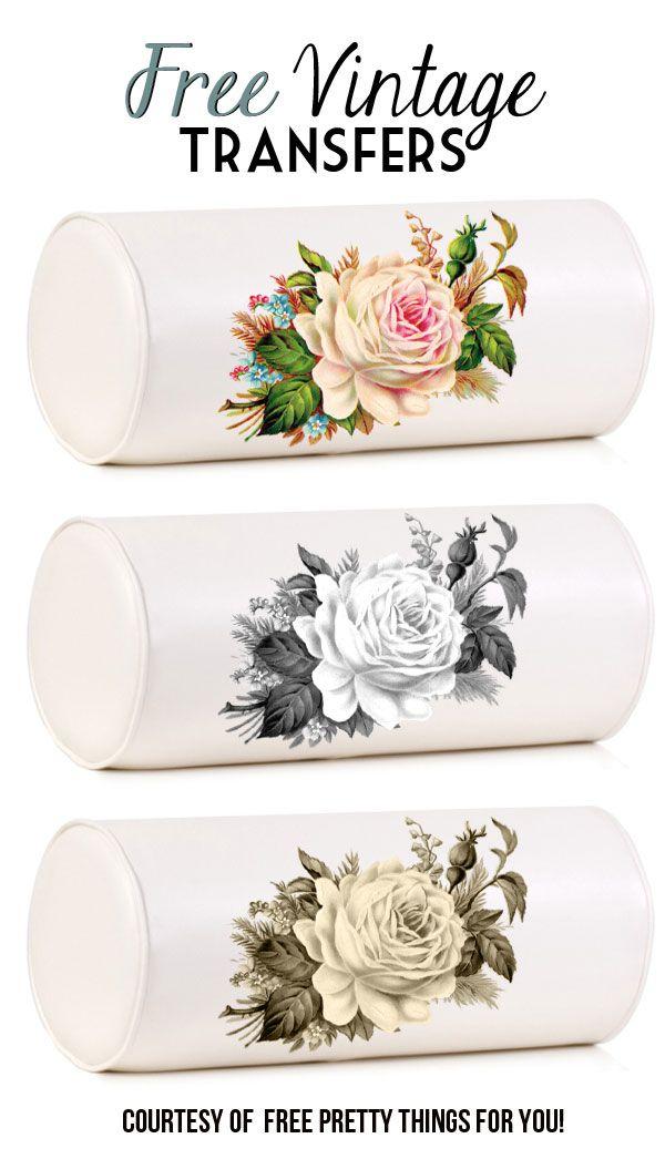 Clip Art: Royalty Free Gorgeous Vintage Rose Image