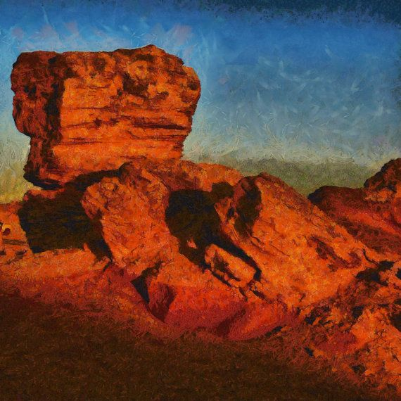 Pinnacles Sunset  square canvas print by ArtbyOlafur on Etsy, $54.00