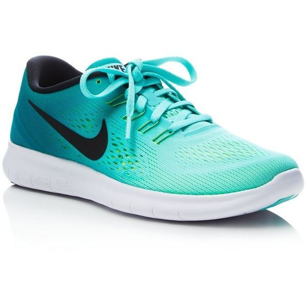 Nike Free Run Natural Lace Up Sneakers ($110) ❤ liked on Polyvore featuring shoes, sneakers, nike, nike sneakers, nike footwear, nike trainers and laced shoes