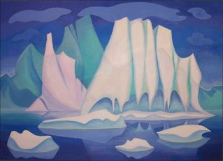 Iceberg with Icicles by Doris McCarthy