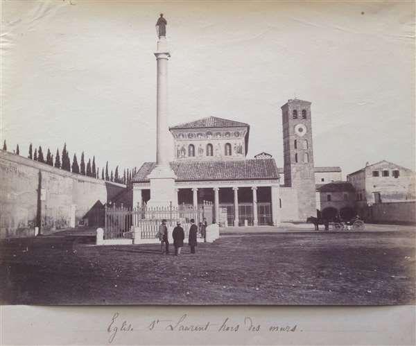 1865 circa Altobelli e Molins . San Lorenzo fuori le mura.