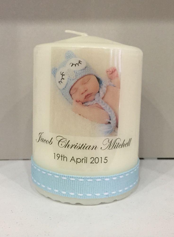 Christening pillar candles / bomboniere