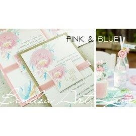 Zaproszenia ślubne Pink & Blue
