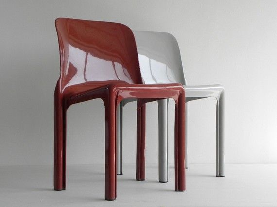 Vintage Selene chairs by Italian designer Vico Magistretti - 1969. SO COOL