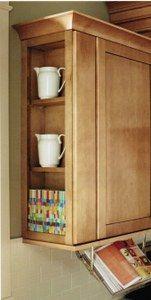 End Bookshelf for wall cabinets - Premier Oak Kitchen Cabinets - RTA Kitchen Cabinets