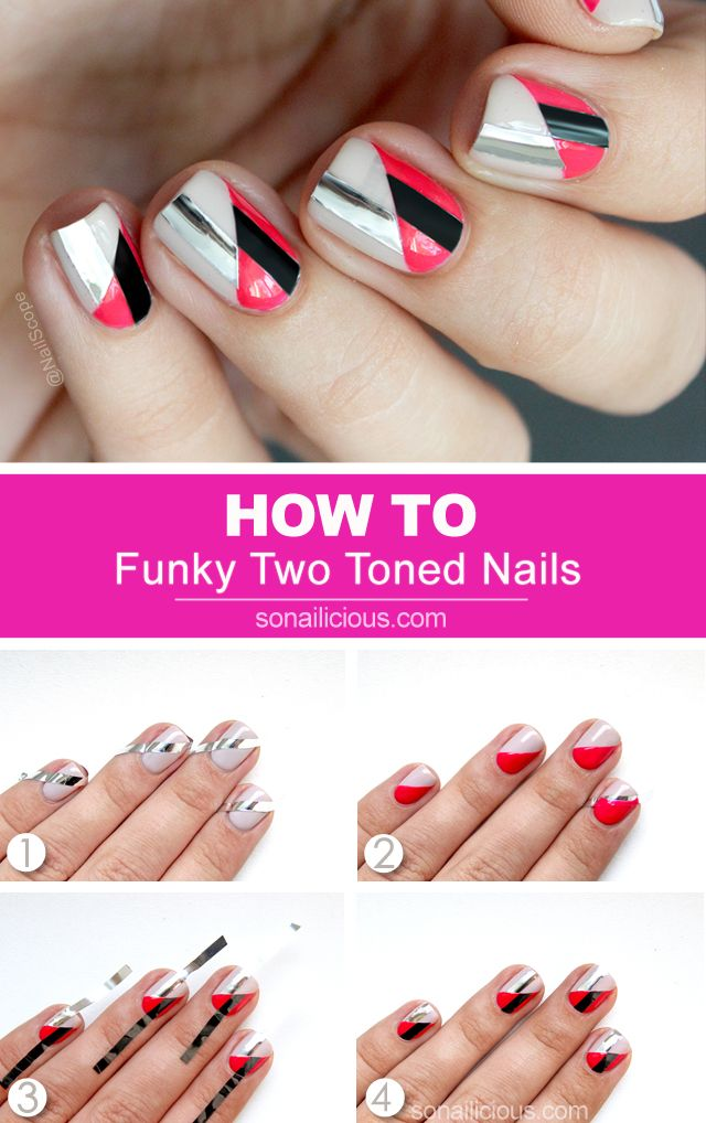 25 beautiful funky nail art ideas on pinterest funky nail 3 funky nail art ideas to try this weekend tutorials provided prinsesfo Image collections
