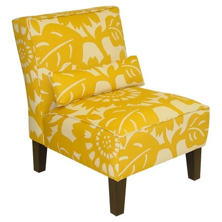 Beautiful marigold slipper chair
