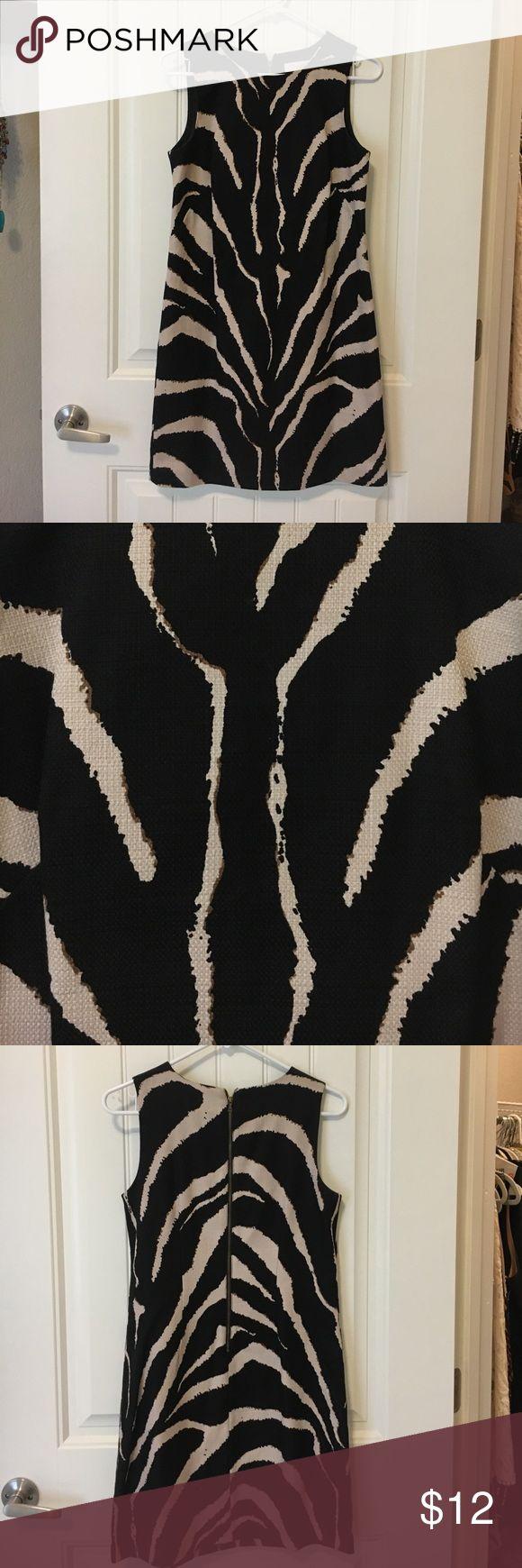 Zebra Print Dress Zebra Print Dress. Never Worn. Great for professional atmosphere. Back zipper. LOFT Dresses Midi