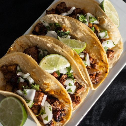 Authentic Tacos Al Pastor  The taco truck near our house has