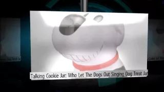 Who Let the Dogs Out Singing Dog Treat Jar - YouTube