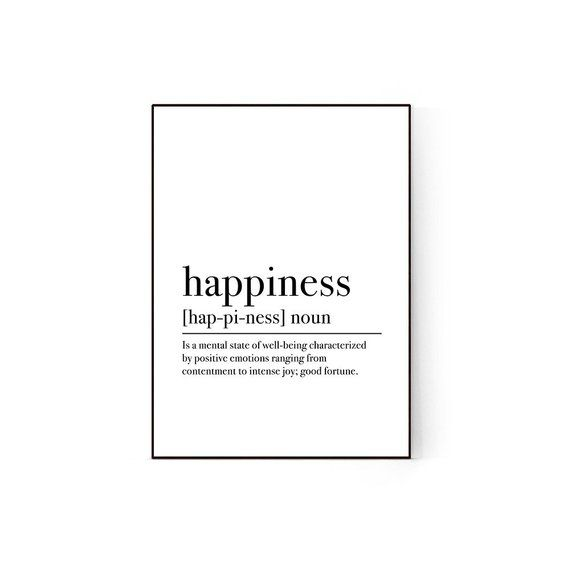 24 x 24 Happiness Poster Print by Kimberly Allen