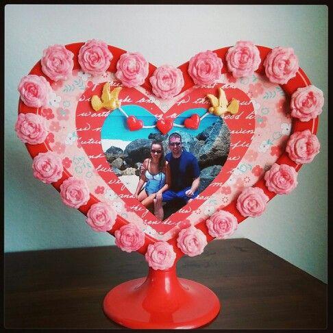 Valentine's Day Mod Podge Mod Melts frame.
