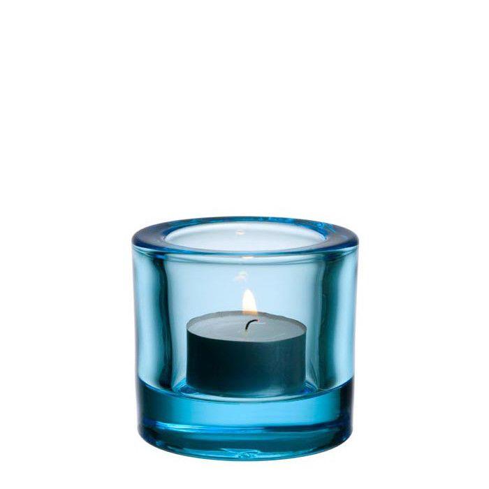 Iittala Kivi Teelichthalter Hellblau