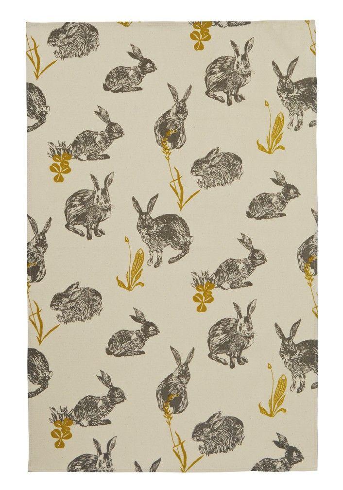 Block Print Rabbits