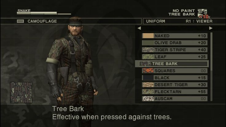 Metal Gear menu