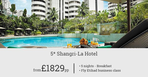 Luxury stay at Shangri-La Hotel and Business class flight with Etihad Airways. Book Now and experience the fascinating charm of Kuala Lumpur.