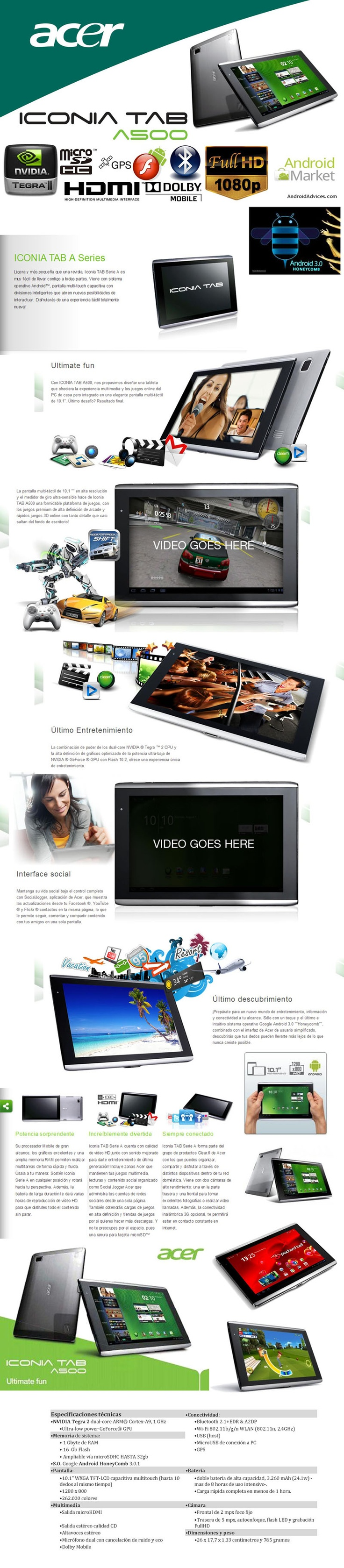 Tablet Acer Iconia A500-10S16A  $785000