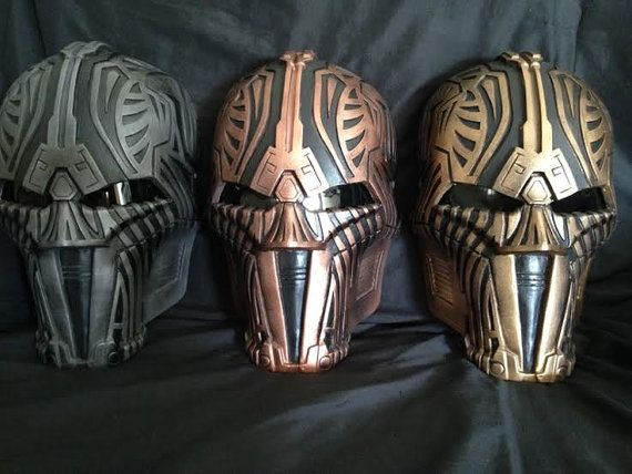 Sith Acolyte Darth Revan  Custom Mask Helmet Star by lionsdendc
