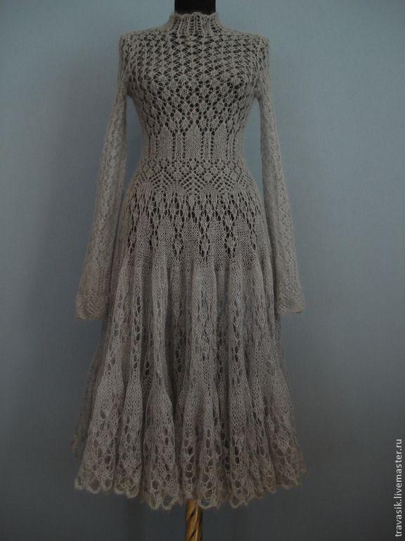 Мохеровое платье - серый,платье мохеровое,платье вязаное,платье теплое