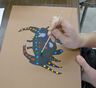 aboriginal art- like the idea of starting with black figure first