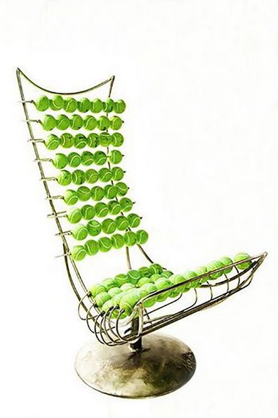 "Tennisball's chair #tennis #tennisdecoration #tennisideas #ideas #tennisdiy #diy #tennisballs #balls Buy tennis balls ---> <a href=""http://www.tenniswarehouse-europe.com/Tennis_Balls.html?lang=en&vat=GR&from=tnewsgr"">link</a>."