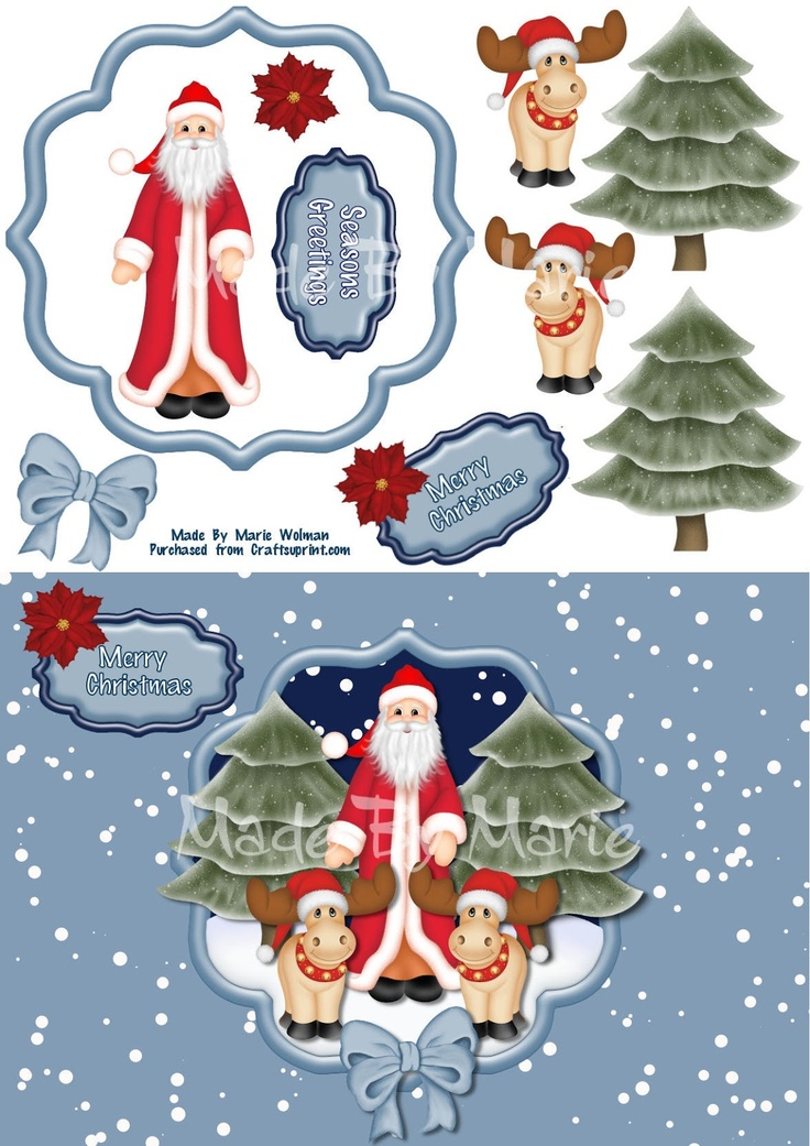 """""""Made By Marie""""  My new Christmas Cards are now on sale at CUP to see in more detail visit   http://www.craftsuprint.com/default.cfm?r=329897amp;designer=1294"""