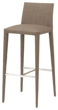 Catina Barstool Cappuccino - modern - Bar Stools And Counter Stools - Modern Furniture Warehouse