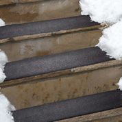 """Residential Heated Stair Mat - mat measures 10"""" deep x 30"""" wide. Melts snow on contact"""