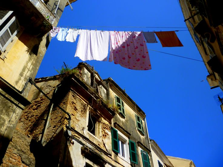 clothes in the air