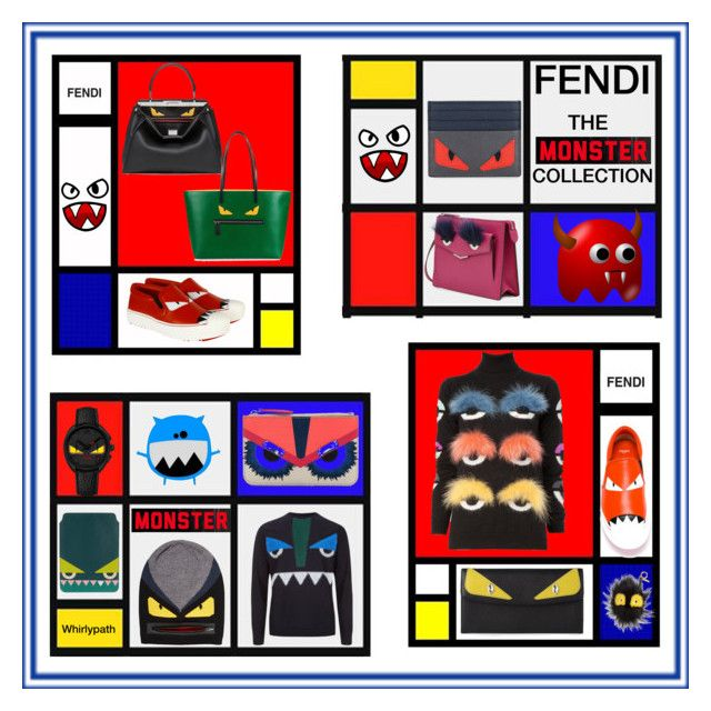 Fendi The Monster Collection! by whirlypath on Polyvore featuring Fendi, Calle and Forum