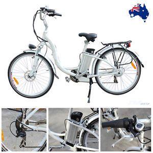 White E-Bike Electric EBIKE Bicycle City BIKE 36V 250W X-MAS XMAS GIFT Christma