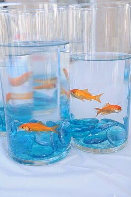 goldfish party centerpiece