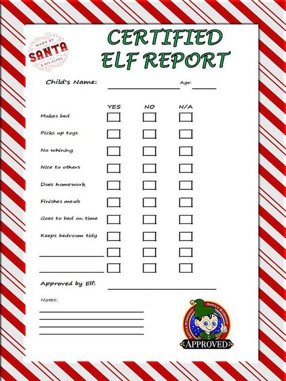 pdf inspired by Elf on a shelf on Etsy, $3.00 | Elf on the Shelf ...
