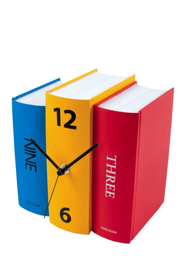 Book Table Clock - Multi