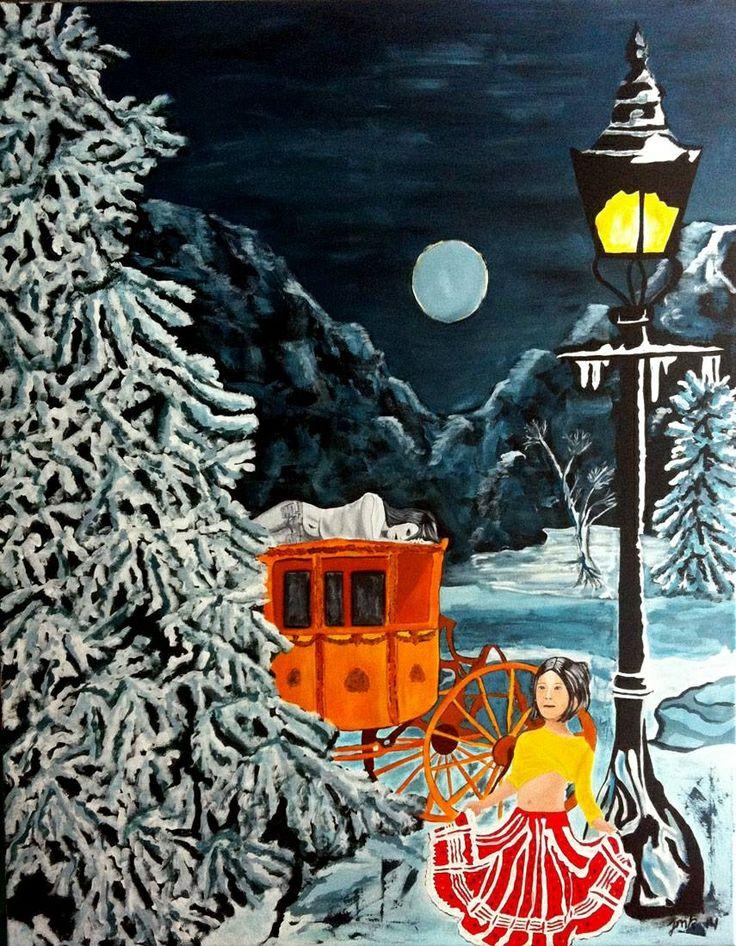 Painting artist Jeanette Marie Kjeldsen.