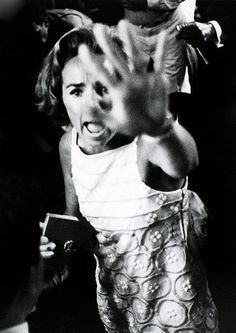 """Ethel Kennedy by Harry Benson, shouting """"Give him air"""" to the crowd after her husband RFK was shot. Ambassador Hotel, Los Angeles, June 5, 1968. www.facebook.com/pages/Focalglasses/551227474936539 Best Vision in The World!"""
