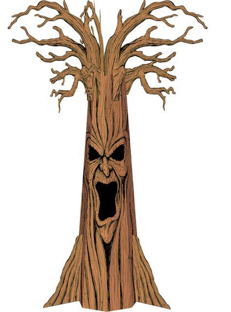 haunted tree cardboard cutout party cityand has dimensional branches