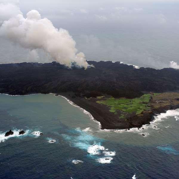 Ilha vulcânica em erupção no Japão pode provocar tsunami