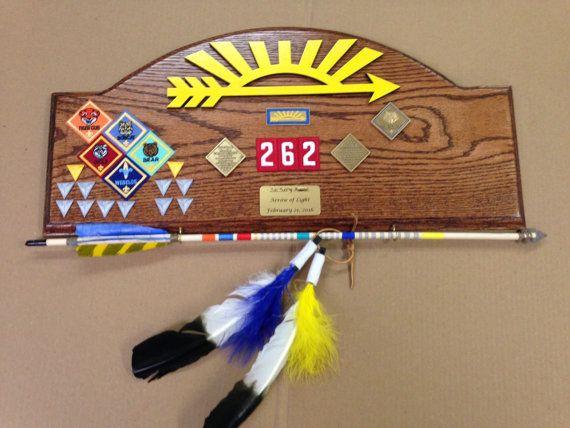 Cub Scout Arrow of Light Award Oak Plaque #3