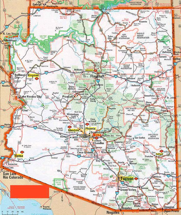 arizona images Physical maps Road Maps County Maps