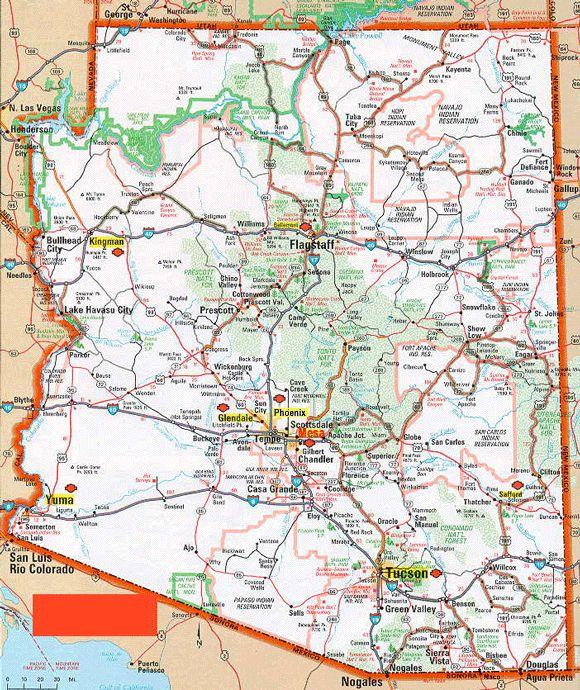 Arizona Highway Map  Recordingstudiomenu