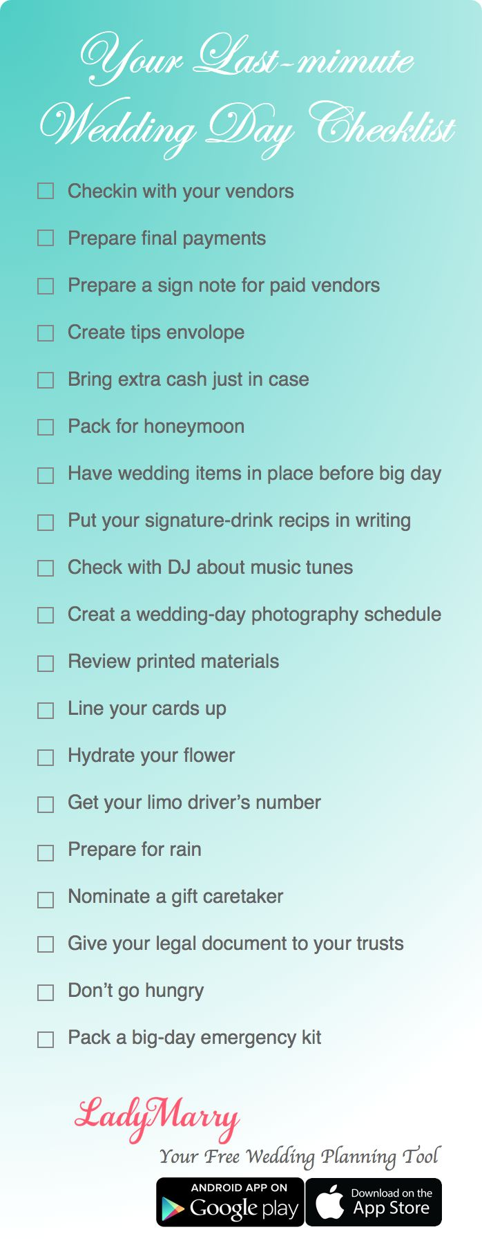 wedding planning checklist spreadsheet free%0A  LadyMarry you  free wedding planning  app