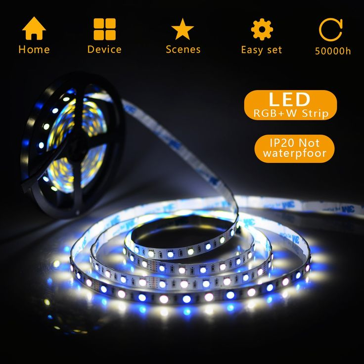 LED Strip Lights 16.4FT 5M 5050 SMD 300LEDs RGBW Color Changing Flexible LED Light Strip Kit