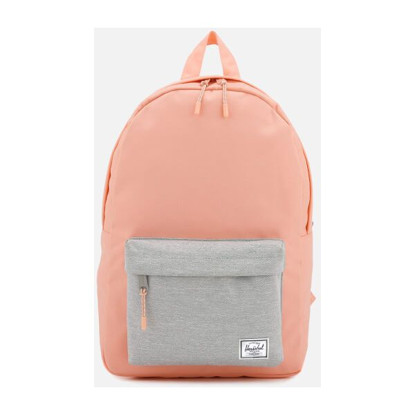 Herschel Supply Co. Women's Classic Mid-Volume Backpack - Peach/Light... ($68) ❤ liked on Polyvore featuring bags, backpacks, herschel backpack, rucksack bag, light grey bag, peach bag and daypack bag