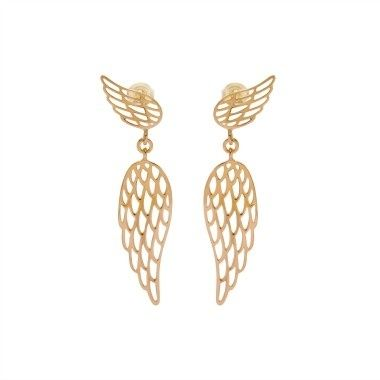 Try the Wings earrings and create an extraordinary look for New Year's Eve party. Available in 23k gold-plated and 925 silver #lilou #earrings #wings #elegant #original #new #years #eve #inspirations