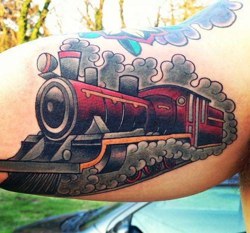 1000 images about train tattoo on pinterest traditional for Crazy train tattoos